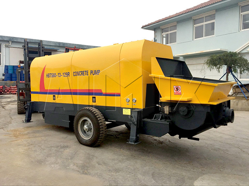 trailer 60m³/h concrete pump