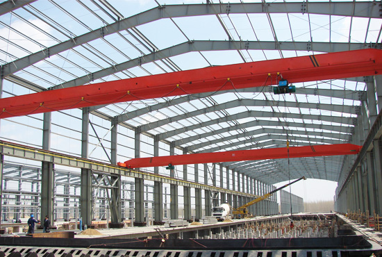 Steel Structure With Overhead Crane